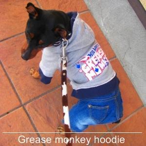 犬のカバーオール【Grease monkey】つなぎ/デニムパーカー/犬服/犬の洋服/ペット服 wanwan3dogs