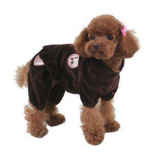 犬のオールインワン【LITTLE BRATS_ブラウン】つなぎ/カバーオール/犬服/犬の洋服/ペット服 wanwan3dogs