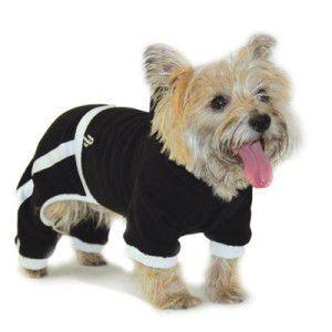 犬のジャージ【PP Terry ジャンパー_ブラック】犬用ジャージ/犬のつなぎ/犬のカバーオール/犬服/犬の洋服/ペット服 wanwan3dogs