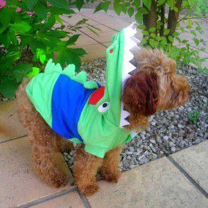 犬のコスチューム【クロコダイル】 ペット用コスチューム/ハロウィン仮装/ワニ|wanwan3dogs