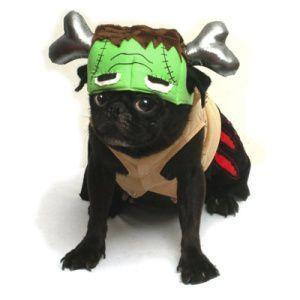 犬のコスチューム【フランケン】 ペット用コスチューム/ハロウィン仮装/怪物/モンスター/つなぎ/カバーオール|wanwan3dogs