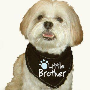 犬のバンダナ【Little brother】ドッグバンダナ/犬用バンダナ/犬グッズ/犬用品|wanwan3dogs