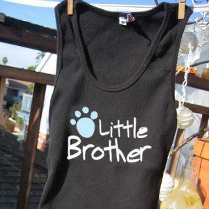 愛犬とペアルック【little brother humanタンク】|wanwan3dogs