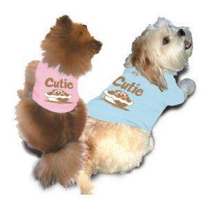 再入荷無し★スペシャル価格★【ダックスファン掲載】ペアで着れる犬のタンクトップ【cutie pie dog タンク】おそろいで着れるオーナー様用タンクトップ有/犬服|wanwan3dogs