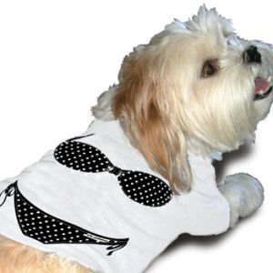 再入荷無し★スペシャル価格★【犬と笑う生活掲載】ペアで着れる犬のタンクトップ【Bikini dog タンク】おそろいで着れるオーナー様用タンクトップ有/犬服|wanwan3dogs