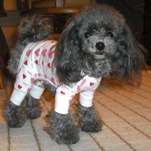 犬のパジャマ【Pink Heart】犬用パジャマ wanwan3dogs