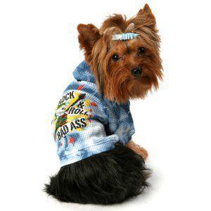 K9DUDS/パンクロックな犬のサーマルパーカー【Rock'n Roll Bad Ass】犬服/犬の洋服/ペット服|wanwan3dogs