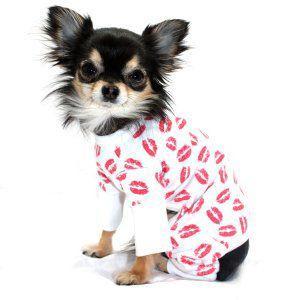 犬のパジャマ【Kiss mark】犬用パジャマ/カバーオール/ペットのパジャマ/犬服/犬の洋服 wanwan3dogs