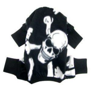 犬のパジャマ【Black skeleton】犬用パジャマ/カバーオール/ペットのパジャマ/犬服/犬の洋服 wanwan3dogs