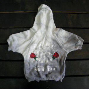 メリケンサックに薔薇がクールなロックな犬のパーカー【Talk Shit Get Bit】犬服/犬の洋服/ペット服|wanwan3dogs