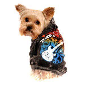 K9DUDS/ロックな犬のパーカー【Peace & Love】おそろいの子供服有/犬服/犬の洋服|wanwan3dogs