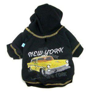 犬のパーカー【NY Taxi】ペットのパーカー/ニューヨークタクシープリント/犬服/犬の洋服/ペット服|wanwan3dogs