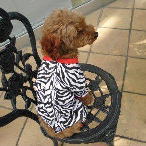 犬のパジャマ【ゼブラ】犬用パジャマ/カバーオール/ペットのパジャマ/犬服/犬の洋服 wanwan3dogs