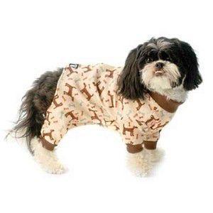 犬のパジャマ【Cuddle Up Brown】犬用パジャマ/カバーオール/ペットのパジャマ/犬服/犬の洋服 wanwan3dogs