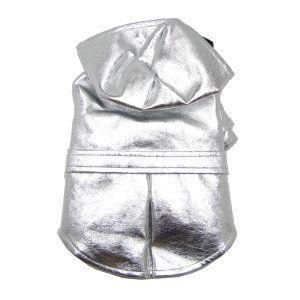 犬のレインコート【Metallic Silver】ペットのレインコート/雨具/レイングッズ/お散歩用品|wanwan3dogs