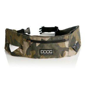 【DOOG ウォーキーベルト カモフラージュ】犬 アウトドア用品/ウエストバッグ/ヒップバッグ/うんち袋、ウェットティッシュセット/リード装着可能|wanwan3dogs