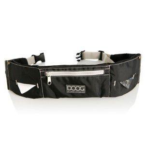 【DOOG ウォーキーベルト ブラック】犬 アウトドア用品/ウエストバッグ/ヒップバッグ/うんち袋、ウェットティッシュセット/リード装着可能|wanwan3dogs