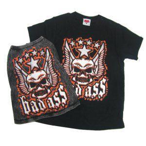 ロックな子供服のTシャツと犬用タンクトップのセット【Bad Ass】キッズ服/K9DUDS/ギフト/プレゼント wanwan3dogs