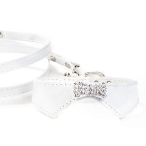 犬の首輪とリードのセット【The Formal Collection ホワイト】チャームプレゼント付♪|wanwan3dogs|04