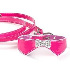 犬の首輪とリードのセット【The Formal Collection ピンク】チャームプレゼント付♪|wanwan3dogs|04