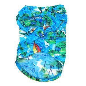 犬のアロハシャツ【Tropical Island】犬用アロハシャツ/犬の夏服/犬の服/犬の洋服/ペット服/ハワイアン|wanwan3dogs
