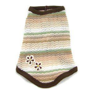 犬のタンクトップ【Crochet Flower】夏の抜け毛の防止にも◎犬服/犬の洋服/ペット服 /夏|wanwan3dogs