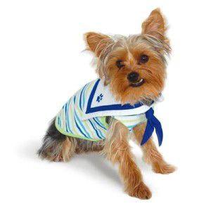 犬のタンクトップ【Happy Sailor タンク】セーラー襟とスカーフが可愛いボーダータンク♪犬服/犬の洋服/ペット服|wanwan3dogs