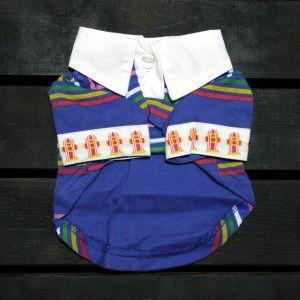 SALE!60%OFF/犬のポロシャツ【Fire stripe】ストライプポロ/犬のシャツ/ペットのポロシャツ/犬服/犬の洋服|wanwan3dogs
