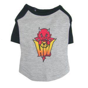 ロックな犬のラグランTシャツ【Lil Devil】ファイアパターン/犬服/犬の洋服/ペット服|wanwan3dogs