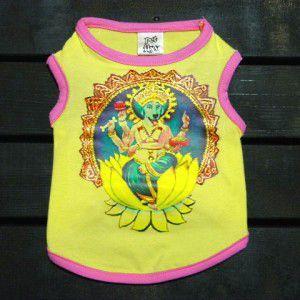 ♂♀ペア洋服/インドの神様ガネーシャ♪【Blue dog Ganesh_男の子用】男の子と女の子おそろい服/犬服/犬の洋服|wanwan3dogs