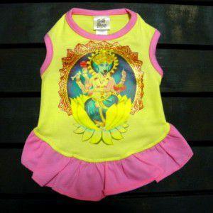 ♂♀ペア洋服/インドの神様ガネーシャ♪【Blue dog Ganesh_女の子用】男の子と女の子おそろい服/犬服/犬の洋服|wanwan3dogs