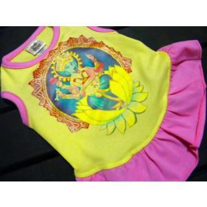 ♂♀ペア洋服/インドの神様ガネーシャ♪【Blue dog Ganesh_女の子用】男の子と女の子おそろい服/犬服/犬の洋服|wanwan3dogs|02