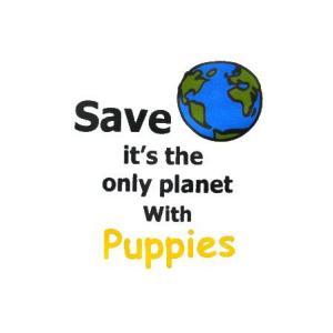 お肌に優しいオーガニックコットン/犬のTシャツ【Save The Earth】犬服/犬の洋服/ペット服 wanwan3dogs 04