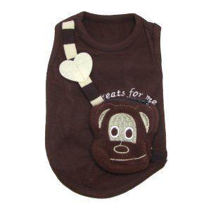 おやつ収納可能♪ハンドバッグ付きタンクトップ【Monkey Purse】モンキーデイズ/おさる/犬服/犬の洋服/ペット服 wanwan3dogs