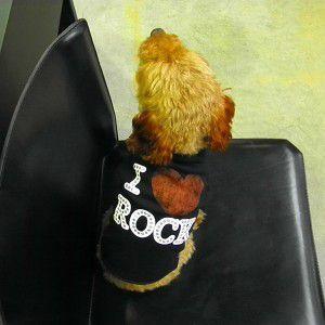 犬のTシャツ【I Luv Rock】スタッズ/犬服/犬の洋服|wanwan3dogs