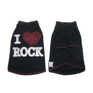 犬のTシャツ【I Luv Rock】スタッズ/犬服/犬の洋服|wanwan3dogs|02