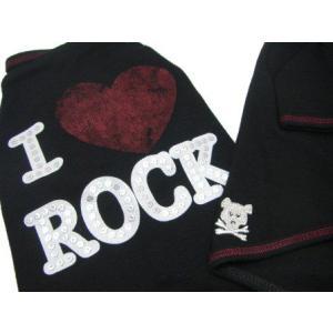 犬のTシャツ【I Luv Rock】スタッズ/犬服/犬の洋服|wanwan3dogs|03