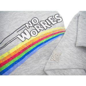 犬のTシャツ【No Worries】ペット用Tシャツ/犬服/犬の洋服/ペット服|wanwan3dogs|03