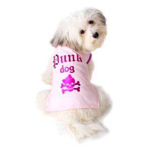 可愛いを体験♪特別価格商品犬のTシャツ【Punk Dog Pink】ペット用Tシャツ/犬服/犬の洋服/ペット服|wanwan3dogs