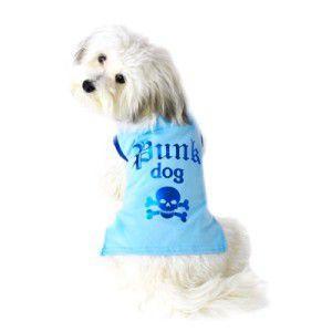 可愛いを体験♪特別価格商品犬のTシャツ【Punk Dog Blue】ペット用Tシャツ/犬服/犬の洋服/ペット服|wanwan3dogs