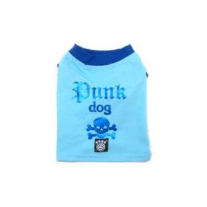 可愛いを体験♪特別価格商品犬のTシャツ【Punk Dog Blue】ペット用Tシャツ/犬服/犬の洋服/ペット服|wanwan3dogs|02