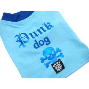 可愛いを体験♪特別価格商品犬のTシャツ【Punk Dog Blue】ペット用Tシャツ/犬服/犬の洋服/ペット服|wanwan3dogs|03