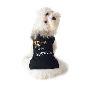 可愛いを体験♪特別価格商品犬のTシャツ【King of the Playground】ペット用Tシャツ/犬服/犬の洋服/ペット服|wanwan3dogs