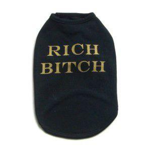 犬のタンクトップ【Rich Bitch】犬服|wanwan3dogs