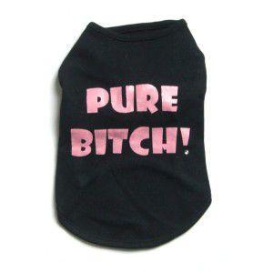 犬のTシャツ【Pure Bitch】犬服/犬の洋服|wanwan3dogs