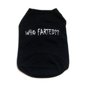 犬のTシャツ【Who Farted Black】犬服/犬の洋服|wanwan3dogs