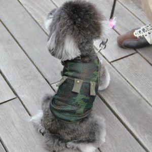 犬のタンクトップ【Army Deep Mesh】迷彩/カモフラージュ/犬服/犬の洋服/ペット服 /夏|wanwan3dogs