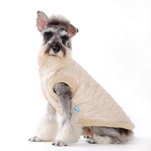 犬のコート【Urban Bubble】キルトコート/ベージュ/フリース/DOGO/犬服/ペットコート|wanwan3dogs