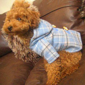 犬のコート【ダッフルコート Blue】犬用コート/ペットのコート/犬服/犬の洋服|wanwan3dogs