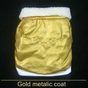 SALE!65%OFF/犬のコート【Gold metalic】犬用コート/ペットのコート/犬服/犬の洋服|wanwan3dogs